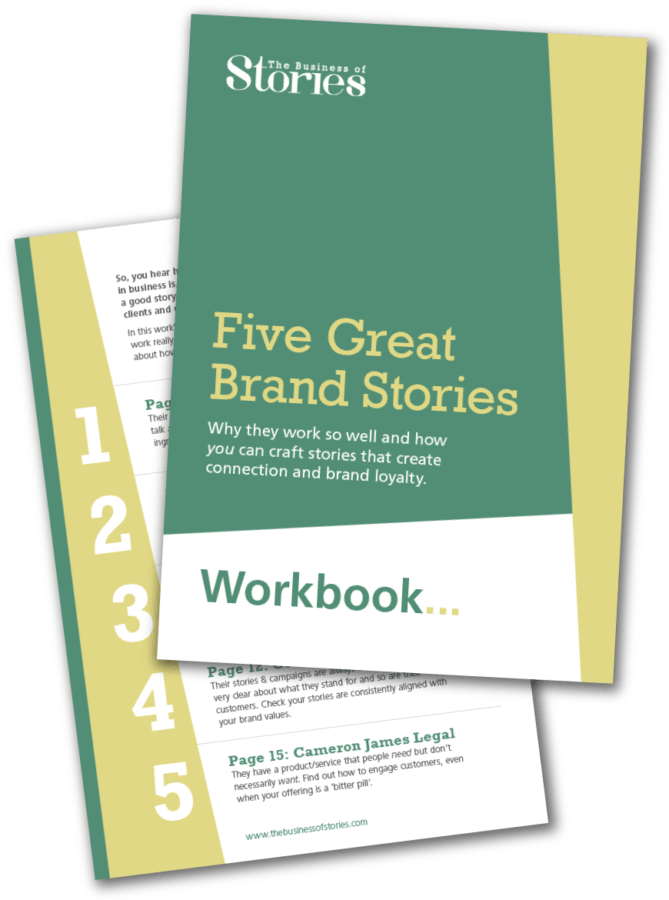 Five-Great-Brand-Stories cover design